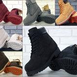 Зимние ботинки Timberland Nubuck, Тимберленд женские ботинки с натуральным мехом