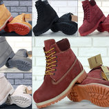 Зимние ботинки Timberland Nubuck, женские ботинки с искусственным мехом