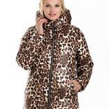 42-54 Зимняя куртка есть с мехом и без. куртка с капюшоном. мех песец, принт, женская теплая куртка.