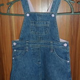 Сарафан джинсовый на 1-2 года