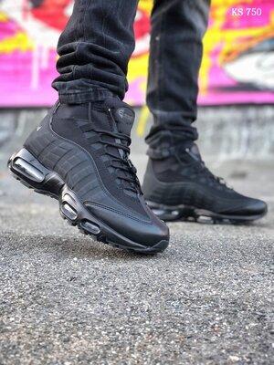 Как Оригинал. Кроссовки Nike Air Max 95 Sneakerboot черные KS 750