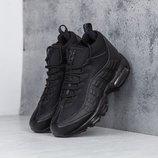 Как Оригинал. Бесплатная доставка. Зимние Кроссовки Nike Air Max 95 Sneakerboot черные Зима KS 751