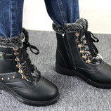 женские тёплые ботинки
