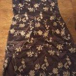 Платье мини с разрезом