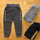 Спортивные брюки на флисе для мальчиков р.110,128