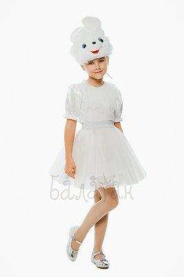 Детский карнавальный костюм для девочки Зайчик 110-128р