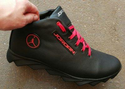 bd72291b 2018 -2019 мужские кроссовки в стиле Jordan зима черные с красным кожа  обувь кросовки спорт