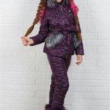 Детский зимний костюм для девочки, Размеры 116, 122, 128, 134, 140, 146