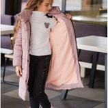 Пальто на силиконе для девочки, Размеры 134,140,146,152