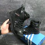 Зимние мужские ботинки Adidas Climaproof black 6855