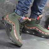 Зимние высокие кроссовки Nike 97 black/orange