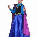Детский карнавальный костюм для девочки Холодное сердце Анна 110-140р