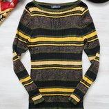 Пуловер M&S в широкий рубчик в полоску, вискоза, мягкий