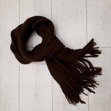 мужской теплый вязанный шарф