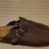 Комфортные ортопедические кожаные шлепанцы Bertie Англия 42 р.