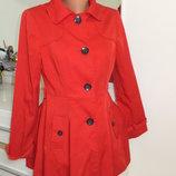 красивое красное укороченное пальто F&F Великобритания раз. 10 или S или 42