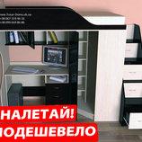 Бесплатная Кровать со столом и шкафом