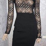 Платье миди ажурное размер 10-12