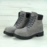 Зимние ботинки Timberland Grey, женские ботинки с натуральным мехом