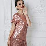 Коктельное платье с паетками, Размер S-M , L-XL