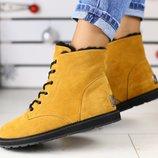 Женские зимние ботинки Ugg из натуральной замши на меху, код ks-4231-1