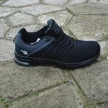 Мужские кроссовки сетка 41-46р черные