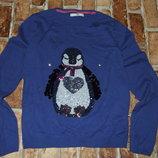 кофта свитер нарядная с паетками 12-13 лет большой выбор