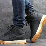 Nike ботинки мужские зимние темно синие с коричневым 6884