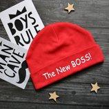 Шапочка The New boss 0-3месяца