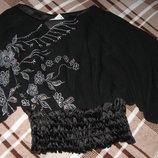 Новая шифоновая блуза с рисунком из пайеток Naturana