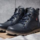 Зимние ботинки на меху Levi's Genuine, темно-синий цвет