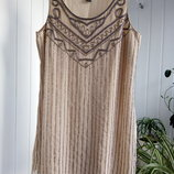 Выпускное платье нюдовое вечернее нарядное платье вышитое бисером