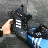 Зимние мужские ботинки Adidas ClimaProof dark blue 6879