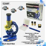 Микроскоп C2107 научные игры для школьников опыты эксперименты