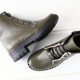 Женские зимние ботинки из натуральной кожи, код ks-4197-1