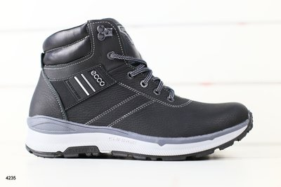 Мужские зимние ботинки из натуральной кожи на меху, код ks-4235
