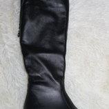 Длинные шикарные женские сапоги до колена, кожа натуральная с 36-40р