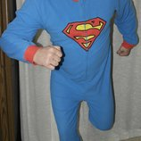 Superman слип кигуруми пижама домашний костюм комбинезон человечек