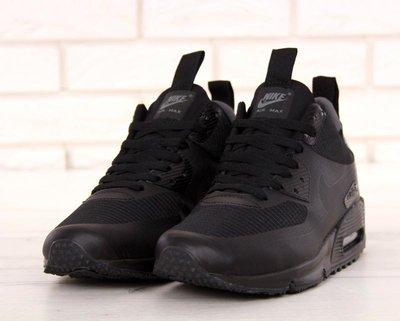 d41c2b70 Черные зимние мужские кроссовки nike air max 90 mid winter 41 42 43 44 45