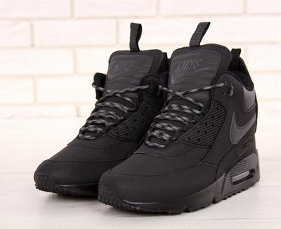 3a623551 Черные мужские зимние кроссовки nike air max 90 sneakerboot 41 42 43 44 45  рр