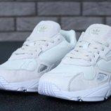 Женские белые кроссовки adidas falcon 36 37 38 39 40 рр
