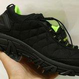 Мужские зимние термо кроссовки Merrell IceBerg. 41-46 Черный с зеленым