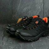 2 цвета. Мужские зимние термо кроссовки Merrell Orange/Black/Green