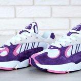 Женские фиолетовые кроссовки adidas yung 1 36 37 38 39 40 рр