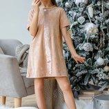 Платье с двусторонней пайеткой