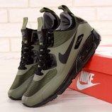 Мужские зимние кроссовки Nike Air Max 90 Mid Winter Olive