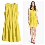 платье H&M yellow dress