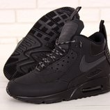 Мужские зимние кроссовки ботинки Nike Air Max 90 Sneakerboot Winter Black