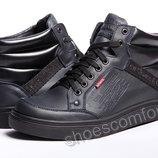 Мужские ботинки Levi's Men's Stanton Burnish Boot темно-синие