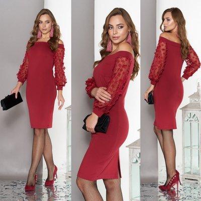 Нарядное платье с открытими плечами, размеры S, M, L, XL цвета